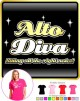 Vocalist Singing Alto Diva Right Notes - LADY FIT T SHIRT