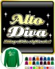 Vocalist Singing Alto Diva Right Notes - SWEATSHIRT