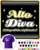 Vocalist Singing Alto Diva Right Notes - CLASSIC T SHIRT