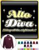 Vocalist Singing Alto Diva Right Notes - ZIP SWEATSHIRT