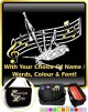 Bagpipe Curved Stave With Your Words - SHEET MUSIC & ACCESSORIES BAG