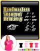 Bandmaster Theory Of Relativity p=p - LADY FIT T SHIRT