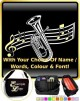 Baritone Curved Stave With Your Words - SHEET MUSIC & ACCESSORIES BAG