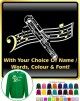 Contra Bassoon Curved Stave With Your Words - SWEATSHIRT
