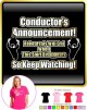 Conductor Rehersals Will End - LADY FIT T SHIRT