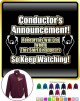 Conductor Rehersals Will End - ZIP SWEATSHIRT