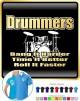 Drum Kit Drummers Bang Harder - POLO SHIRT