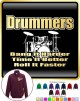Drum Kit Drummers Bang Harder - ZIP SWEATSHIRT