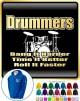 Drum Kit Drummers Bang Harder - ZIP HOODY