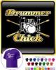Drum Kit Sticks Chick - CLASSIC T SHIRT