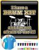 Drum Kit Not Afraid Use - POLO SHIRT
