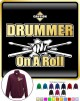 Drum Fist Sticks Drummer On Roll - ZIP SWEATSHIRT
