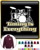 Drum Kit Timing Everything - ZIP SWEATSHIRT