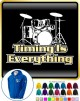 Drum Kit Timing Everything - ZIP HOODY