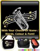 Euphonium Curved Stave With Your Words - SHEET MUSIC & ACCESSORIES BAG