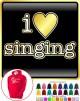Vocalist Singing I Love Singing - HOODY