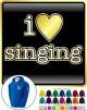 Vocalist Singing I Love Singing - ZIP HOODY