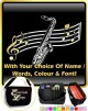 Saxophone Sax Tenor Curved Stave With Your Words - SHEET MUSIC & ACCESSORIES BAG