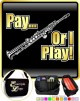Saxophone Sax Soprano Pay or I Play - TRIO SHEET MUSIC & ACCESSORIES BAG