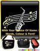 Saxophone Sax Alto Curved Stave With Your Words - SHEET MUSIC & ACCESSORIES BAG