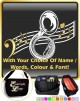 Sousaphone Curved Stave With Your Words - SHEET MUSIC & ACCESSORIES BAG
