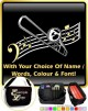 Trombone Curved Stave With Your Words - SHEET MUSIC & ACCESSORIES BAG