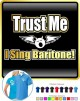 Vocalist Singing Trust Me I Sing Baritone - POLO SHIRT