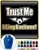 Vocalist Singing Trust Me I Sing Baritone - ZIP HOODY