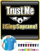 Vocalist Singing Trust Me I Sing Soprano - POLO SHIRT