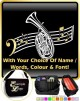 Wagner Tuba Curved Stave With Your Words - SHEET MUSIC & ACCESSORIES BAG